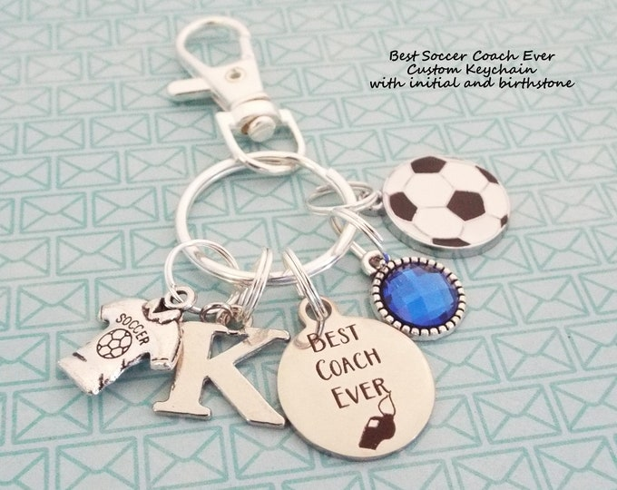 Soccer Coach Gift, Gift for Coach, Coach Keychain Gift, Thank you Coach, Soccer Gift, Custom Keychain, Sports Keychain, Personalized Gift