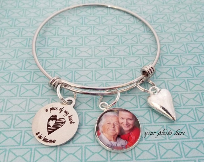 Memorial Gift Charm Bracelet, Loss of Loved One, Grief and Mourning, In Sympathy Jewelry, Gift for Her, In Memory Gift, Silver Bracelet