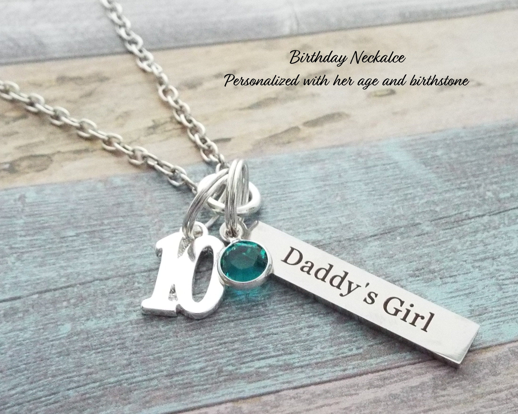 Birthday For Daughter Dad Gift Birthstone Jewelry Girl Gallery Photo