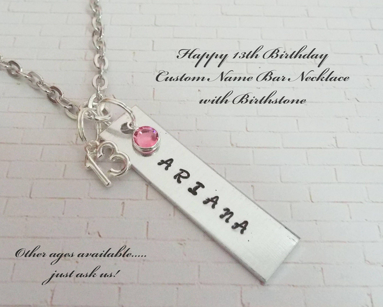 13. Geburtstag-Halskette Geschenk für Mädchen drehen 13   Etsy