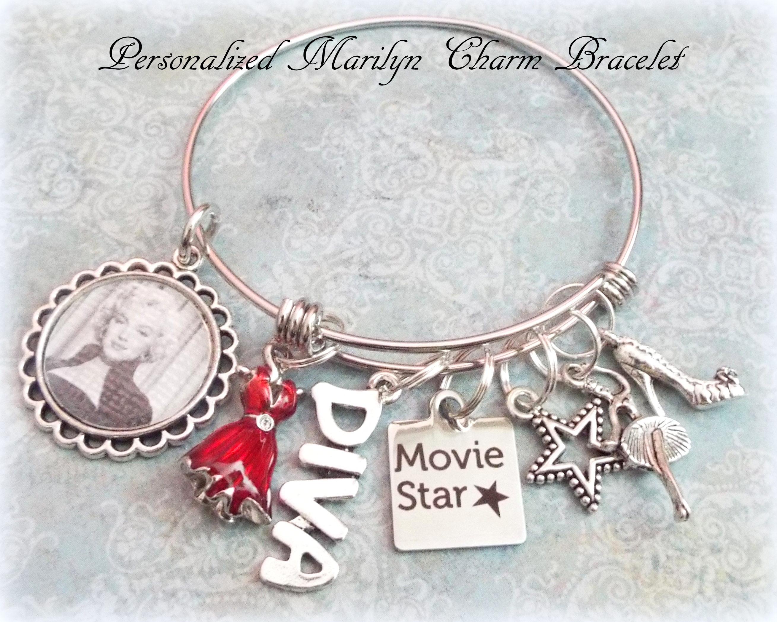 Marilyn Monroe Charm Bracelet Daughter Birthday Gift Granddaughter