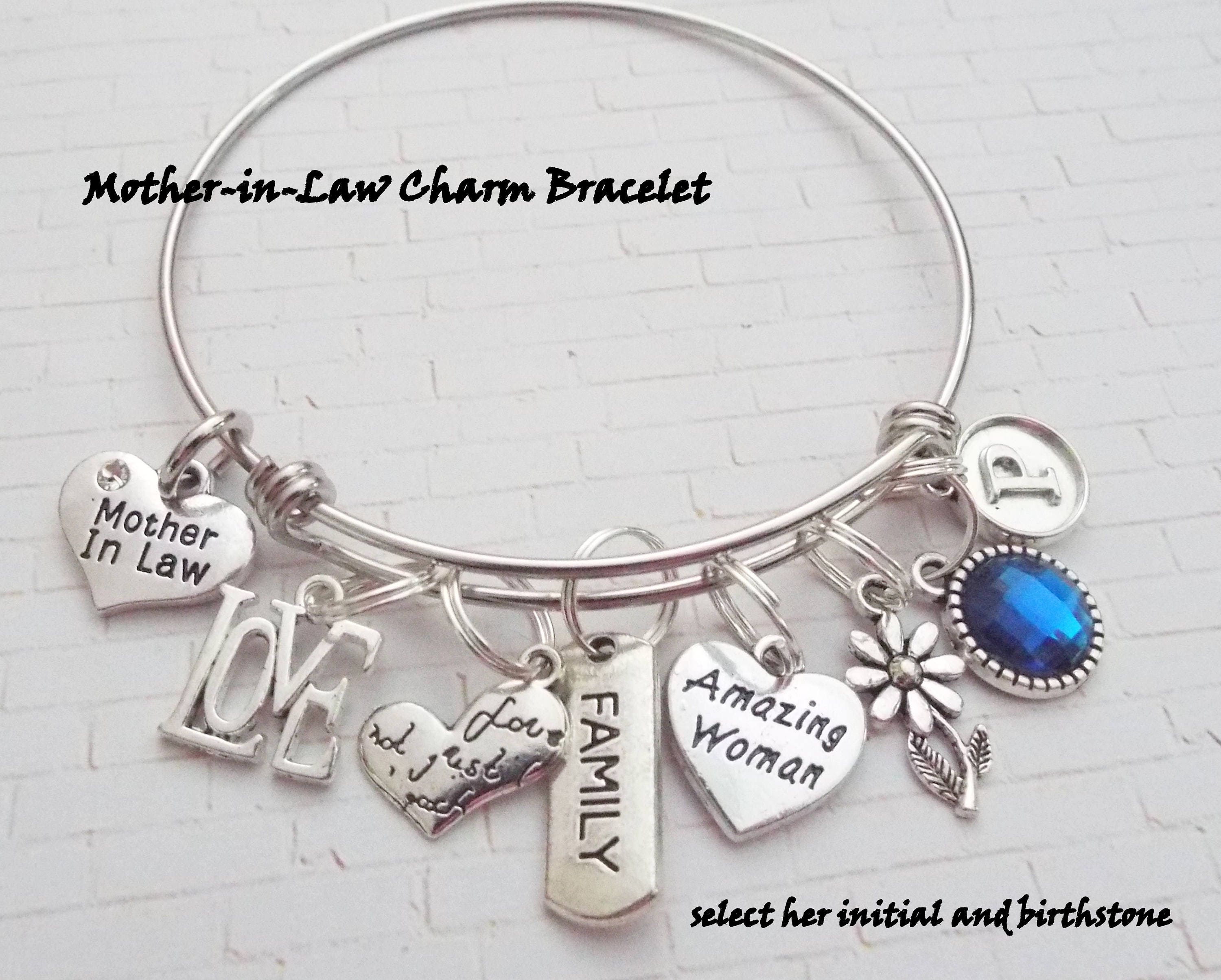 mother in law gift personalized gift initial jewelry gifts for