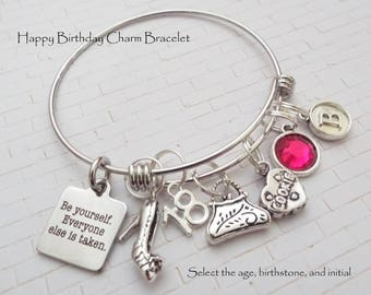 18th Birthday Girl Gift, Birthday Gift for 18 Year Old Girl, Gift for 18th Birthday Girl, Personalized Gift, Custom Jewelry, Gift for Her