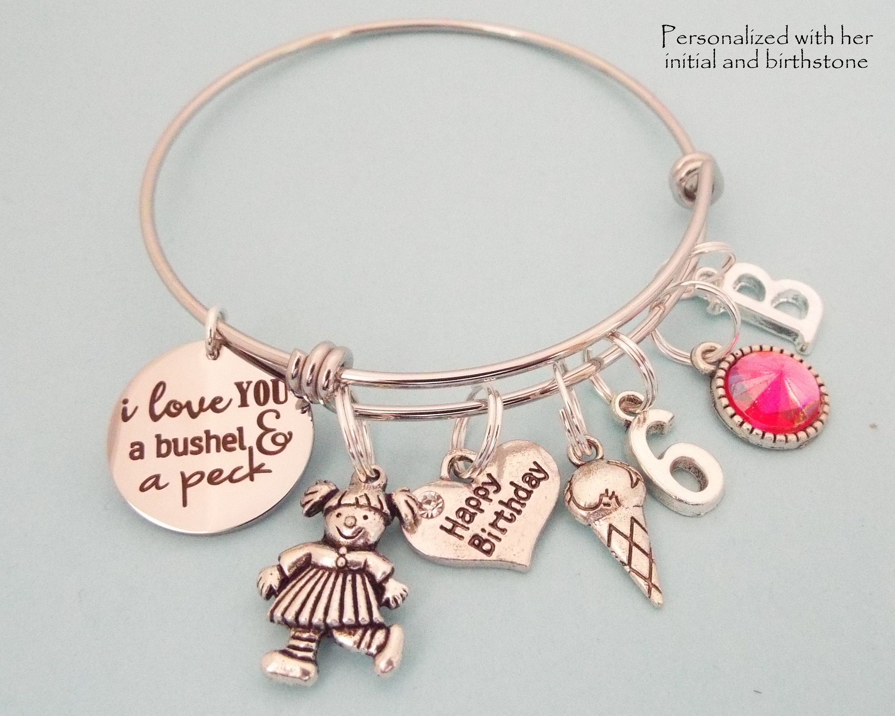 6 Years Old Childrens Birthday Childs Jewelry Personalized For Her Granddaughter Gift Gallery Photo