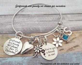 Best Friend Gift, Best Friend Birthday Gift, Best Friend Bracelet, Best Friend Jewelry, Gift for Best Girlfriend, Custom Jewelry