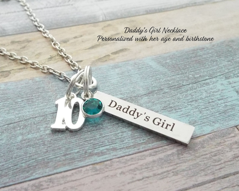 13th Birthday Name Bar Necklace Gift For 13 Year Old