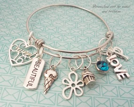 Sweet 16 Geschenk 16 Geburtstagsgeschenk Für Mädchen Mädchen Geburtstag Geschenk Geschenke Personalisierte Schmuck Personalisierte Geschenk