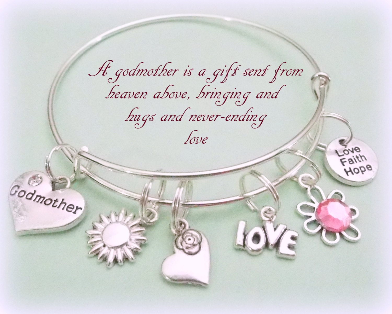 Godmother Birthday Gift Charm Bracelet For Her Personalized Goddaughter To Custom Jewelry