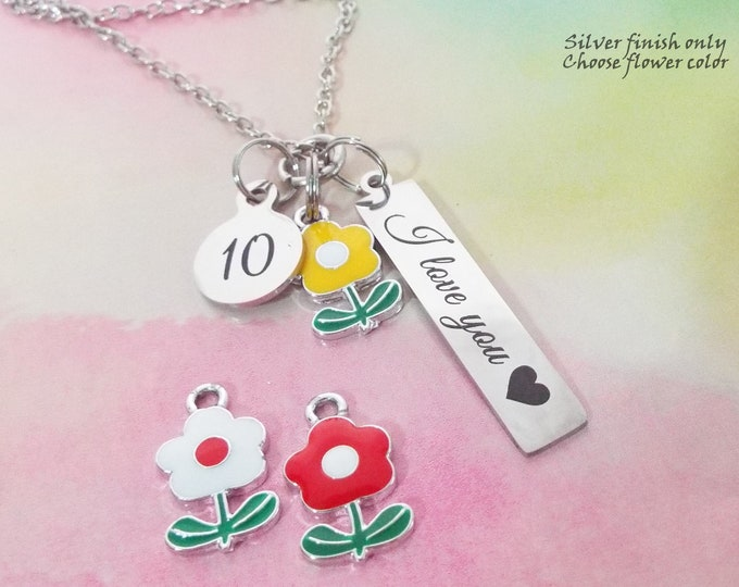 10th Birthday Gift for Daughter, Girl's Gift for Turning 10, Granddaughter Gift, Niece Birthday, Personalized Jewelry, Gift for Her
