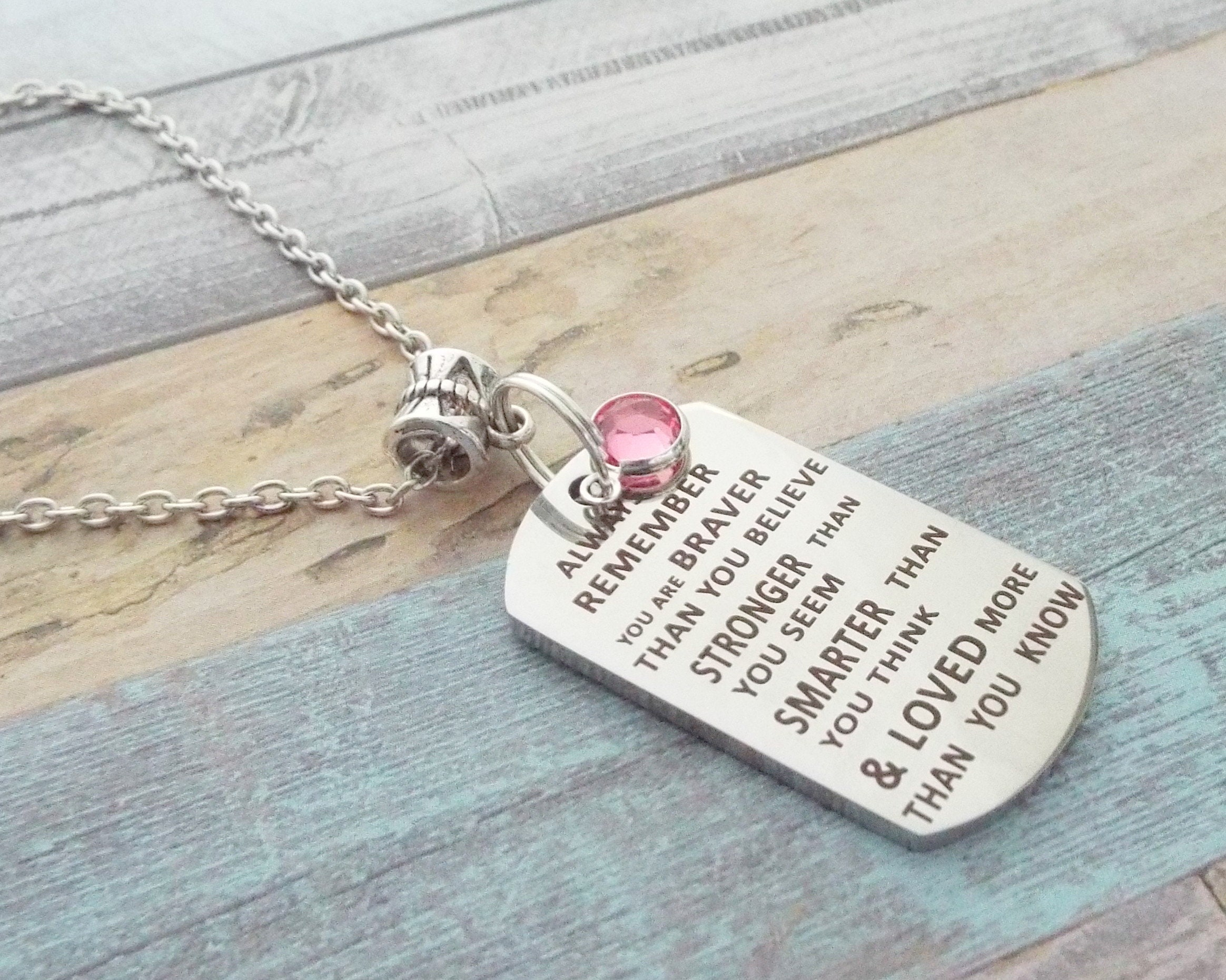 Daughter Gift Silver Necklace Personalized Girls Birthday