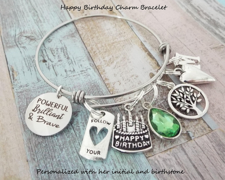 Girl Birthday Charm Bracelet, Gift for Girl's Birthday