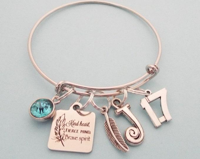 17th Birthday Girl, Girl Turning 17, Personalized Gift, Teenage Girl, Teenager Jewelry, Birthstone Jewelry, Initial Bracelet, Girl Gift