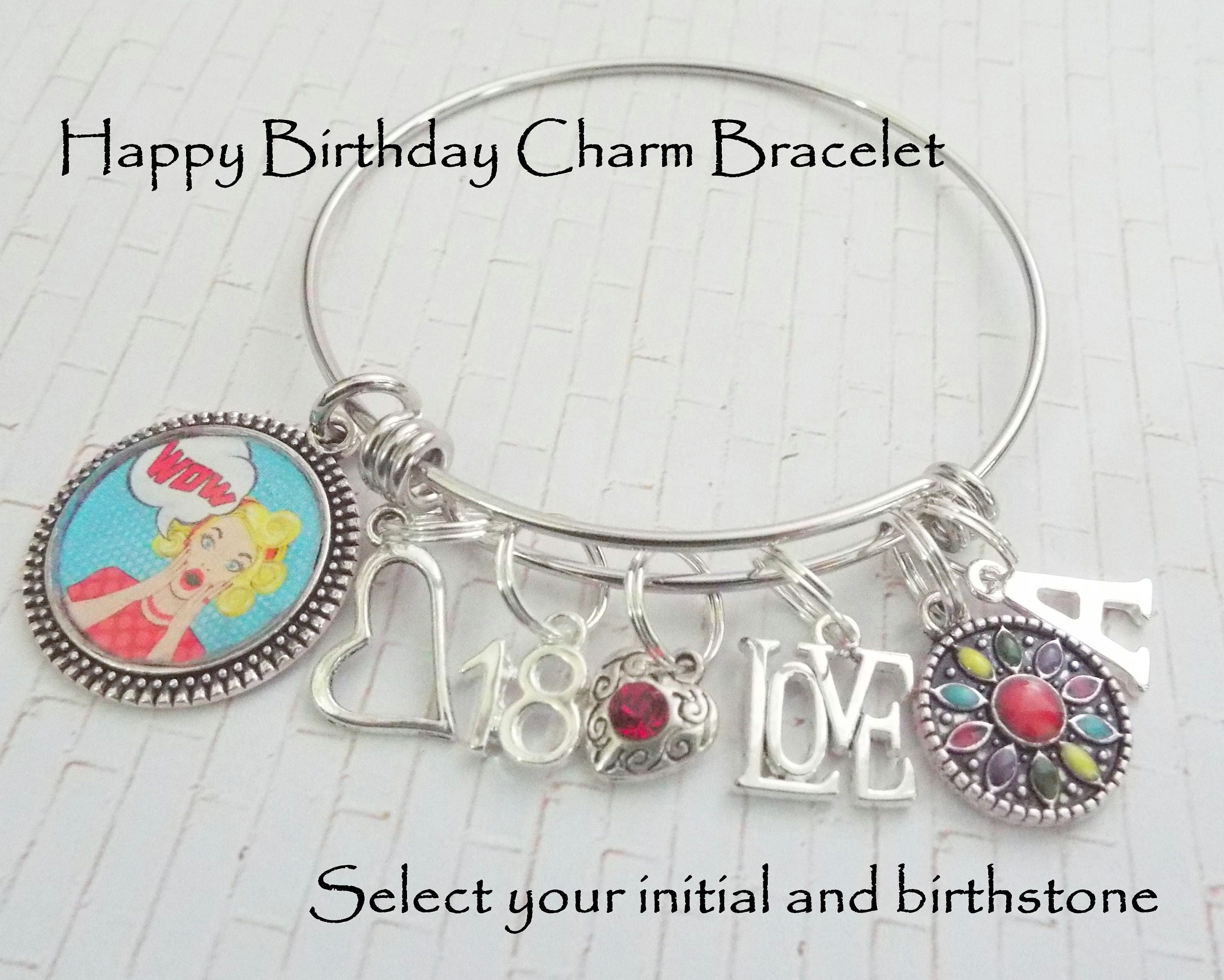 Birthday Gift For Girl 18th Girls Charm Bracelet Daughters Jewelry