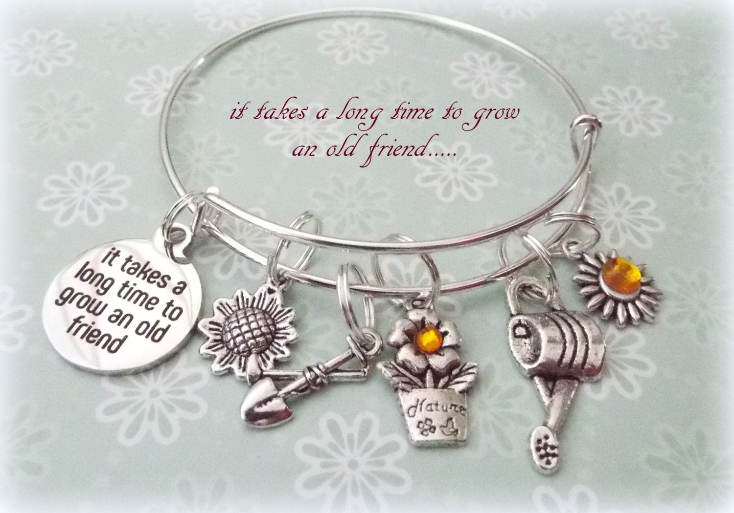 Best Friend Gift Charm Bracelet For Old Friends Birthday Personalized