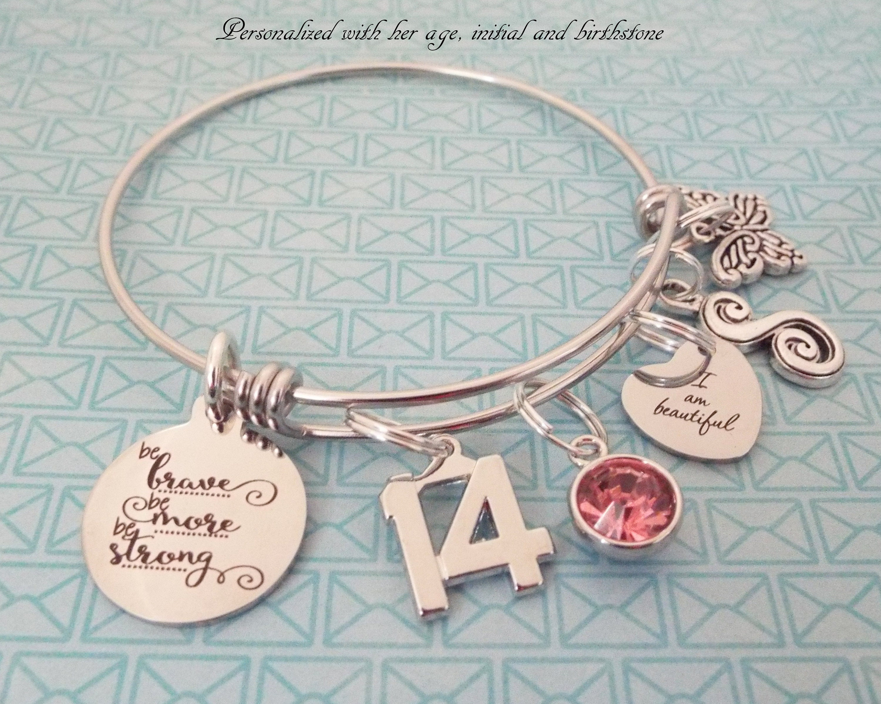 201 & Personalized Jewelry 14th Birthday Gift Girlu0027s Birthday Charm ...