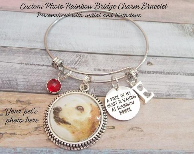 Gift for Loss of Pet, Pet Loss of Dog, Rainbow Bridge Charm Bracelet, Sympathy Gift Loss of Dog, Gift for Loss of Pet, Dog Lover