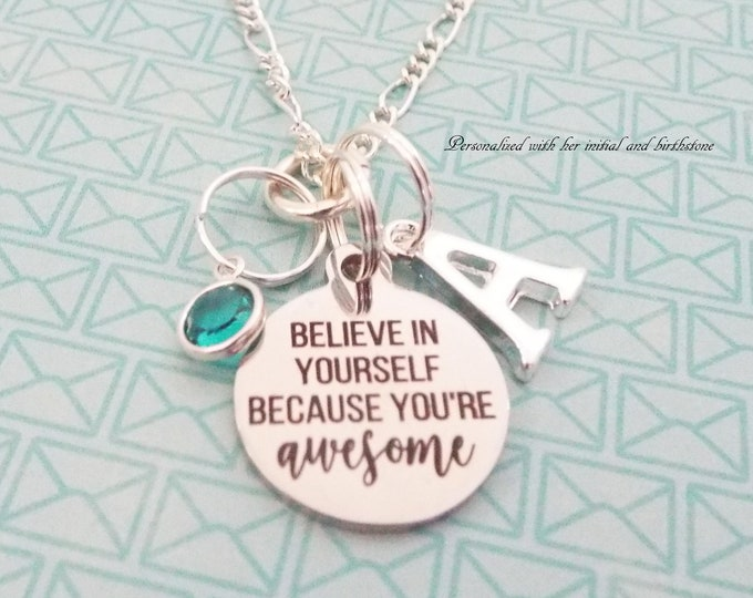 Girls' Birthday Necklace, Daughter Gift, Granddaughter Gift, Personalized Gift, Custom Jewelry, Silver Necklace, Gift for Her, Niece Gift