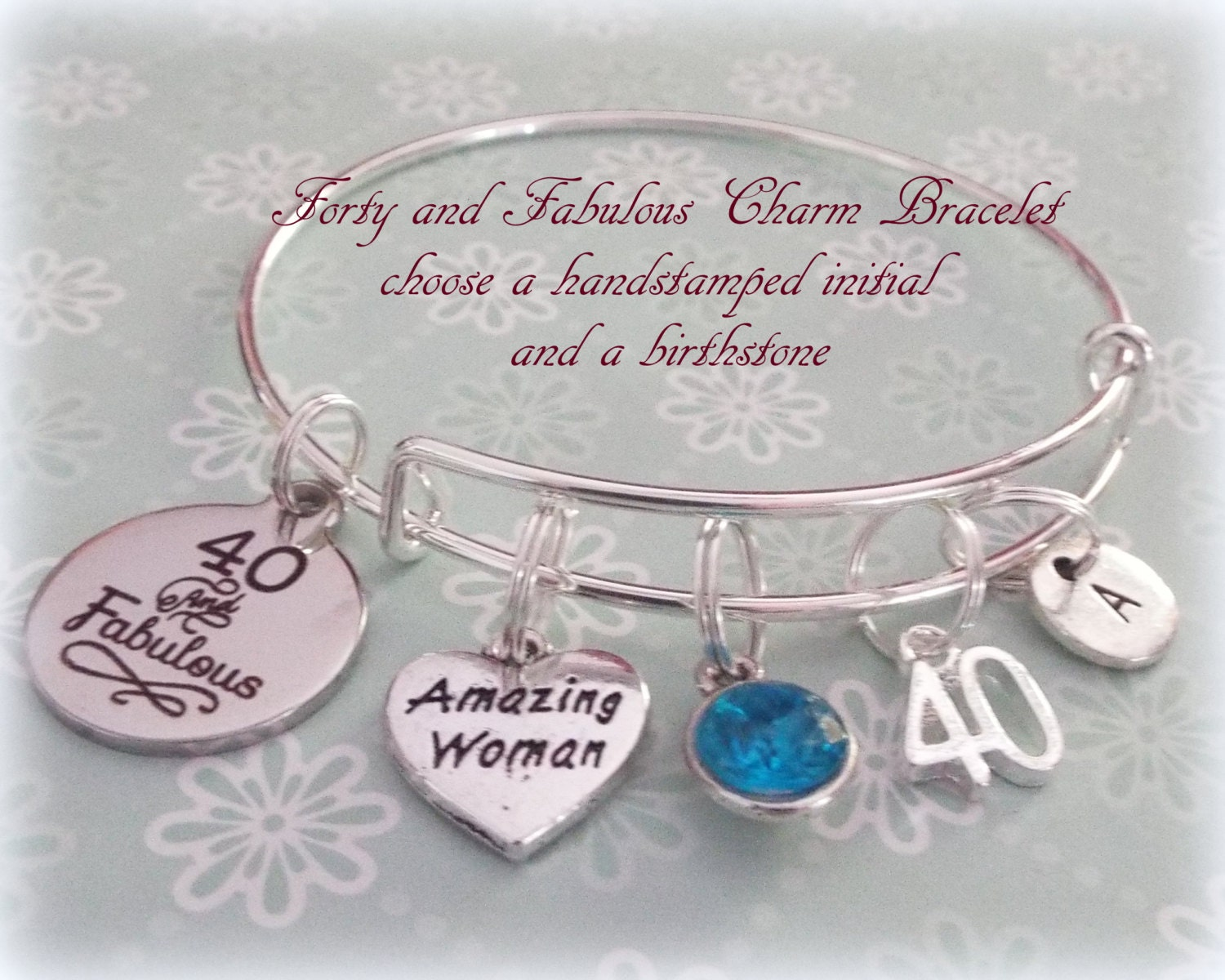 Best Friend Gift Personalized Jewelry 40th Birthday Bracelet For Her Gallery Photo