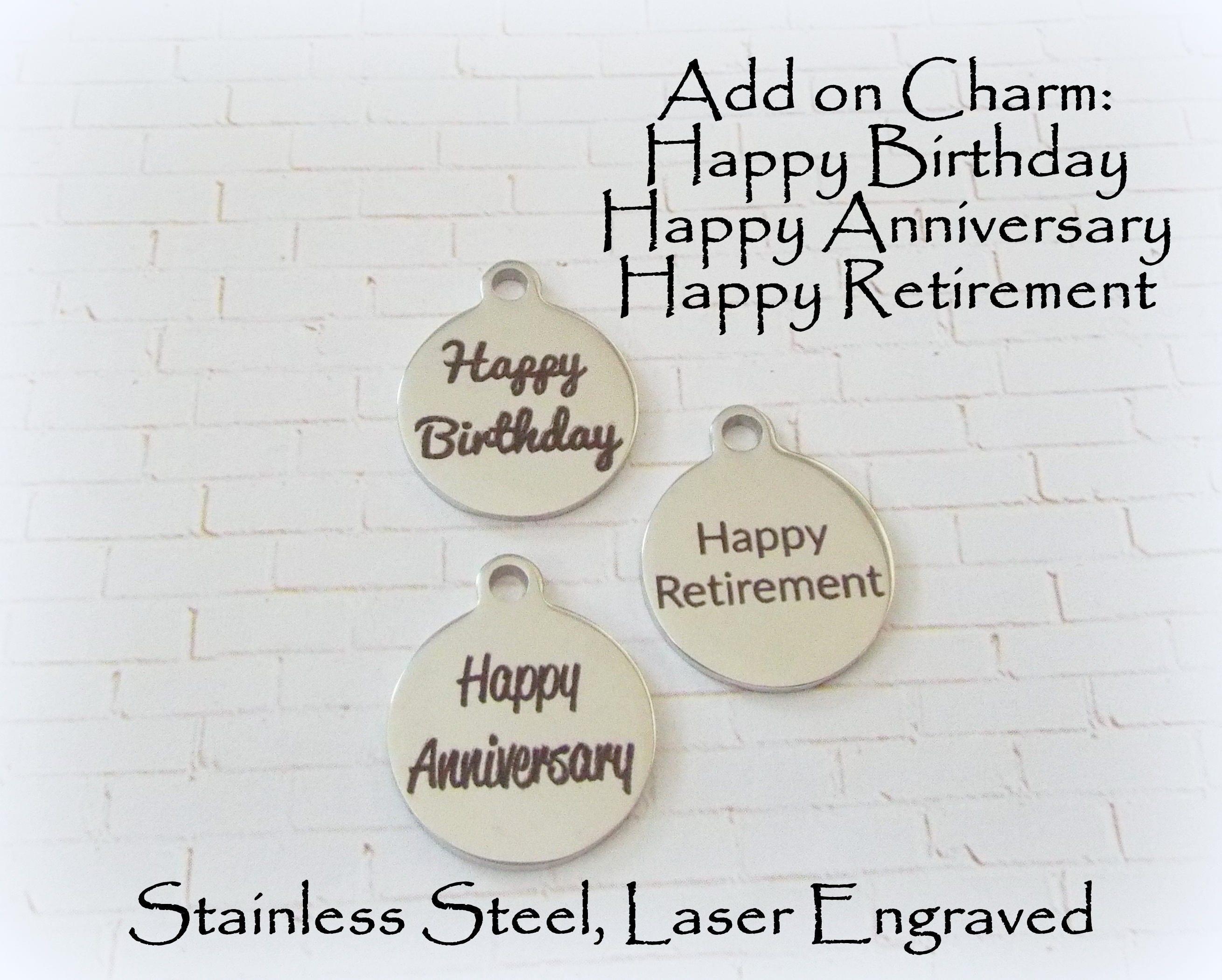 Add On To Any Charm Bracelet Happy Birthday Gift Happy