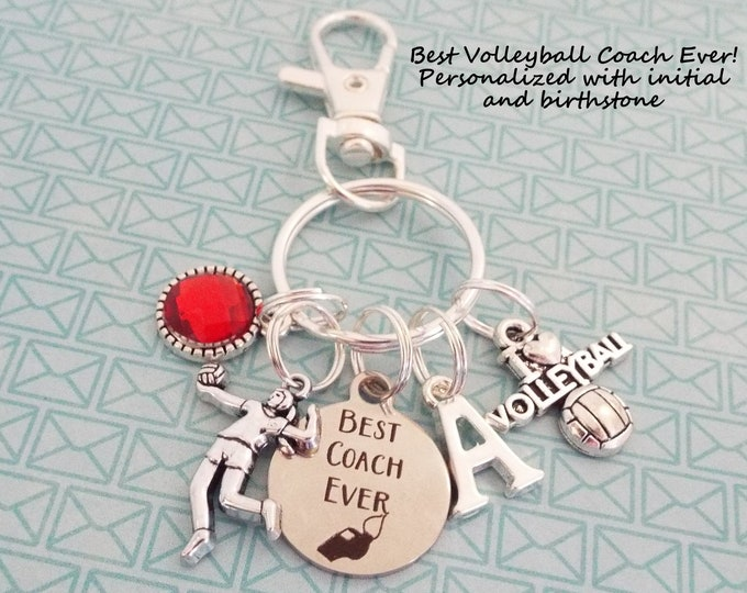 Volleyball Coach Gift, Coach Gift Volleyball, Personalized Keychain, Personalized Gift, Sports Keychain, Gift for Coach, Unisex Coach Gift