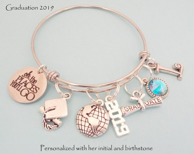 Graduation Gift for 2019, High School Graduate Girl Gift, College Woman Graduating Gift, Personalized Gift, Women's Jewelry, Daughter Gift