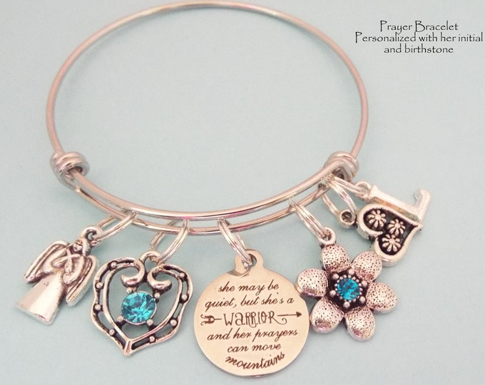 Christian Girl Gift, Prayer Charm Bracelet, Personalized Gift Christian Woman, Woman's Jewelry, Spiritual Women Gift, Gift for Her