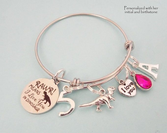 5th Birthday Gift for Girl, Gift for Girl Turning 5, Personalized Jewelry, Daughter, Niece, Granddaughter Birthday Gift Ideas, Gift for Her