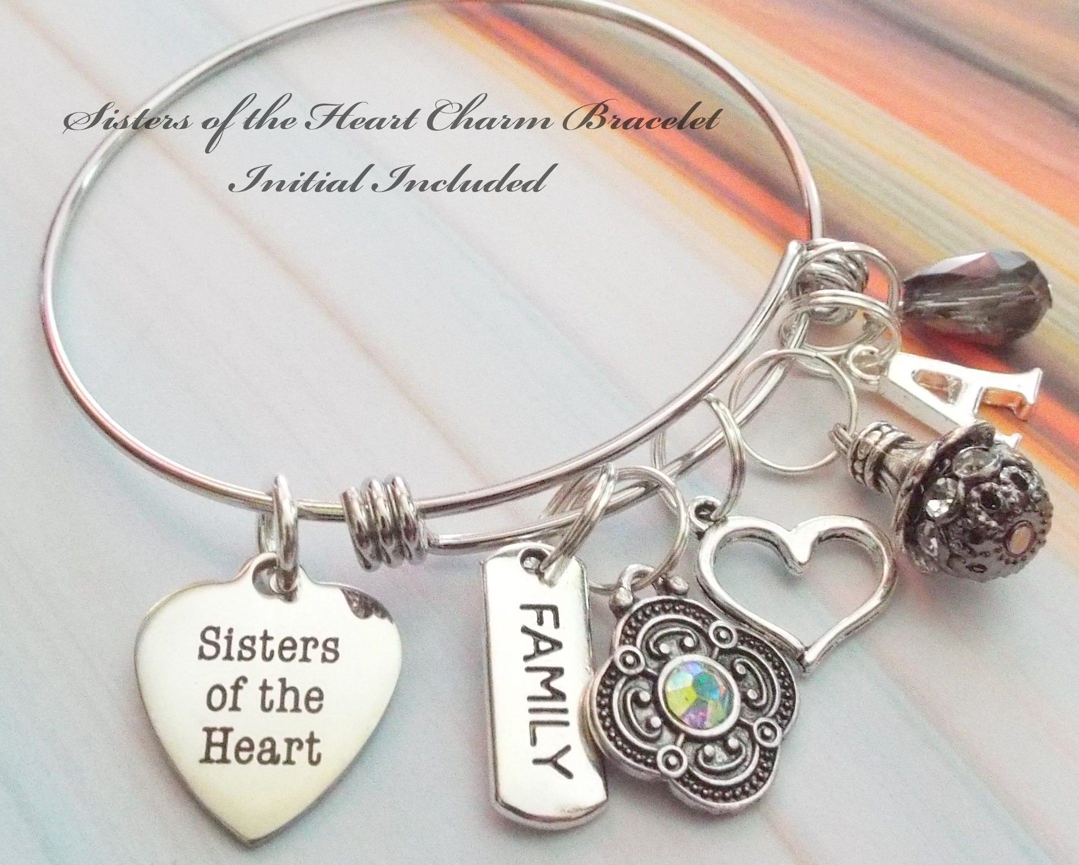 Gift For Best Girlfriend Friend Birthday Personalized Charm Bracelet Jewelry Custom