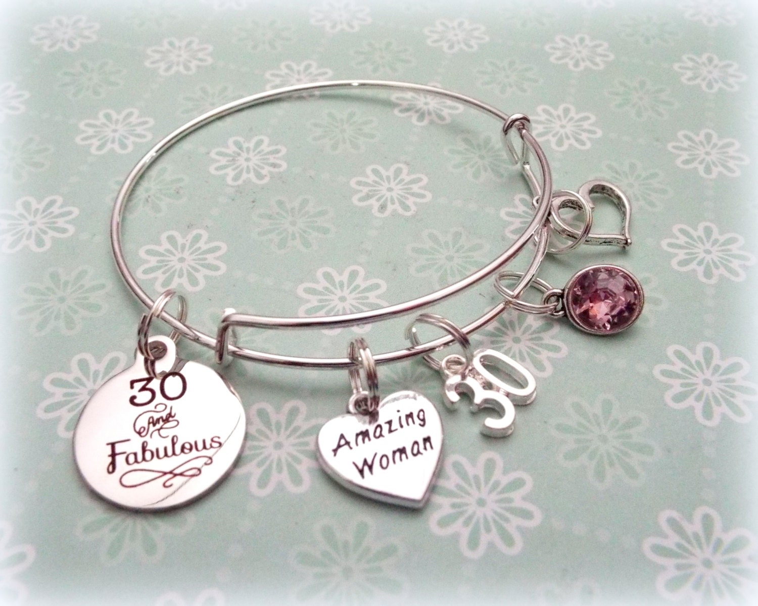 30th Birthday Gift 30 And Fabulous Charm Bracelet For Girlfriend Best Friend
