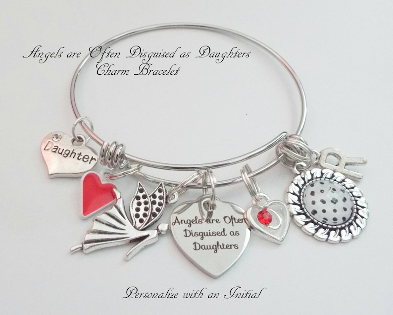 Happy Birthday Daughter Charm Bracelet Personalized Jewelry Gift for Daughter Gift Ideas for Daughter Birthday Gift for Daughter