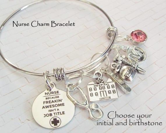 f7b629d482c Gift for Nurse Nurse Gift Nurse Graduation Charm Bracelet