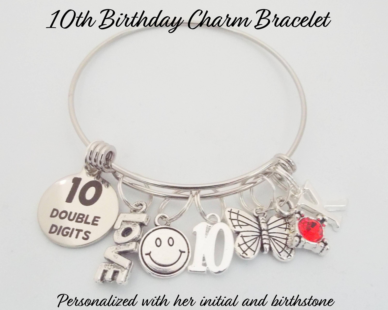 10. Geburtstag-Mädchen 10 Jahre alt Geburtstag Bettelarmband | Etsy