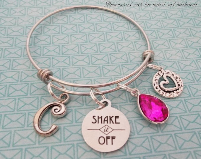 Gift for Valentine Girl, Birthstone Jewelry, Initial Bracelet, Personalized Gift for Girl's, Encouragement Gift, Gift for Her, Woman's Gift