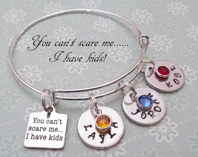 Gift for Mom, Handstamped Jewelry for Mom, Mother's Jewelry, Personalized Gift for Mom, Personalized Jewelry for Mother, Birthstone Jewelry