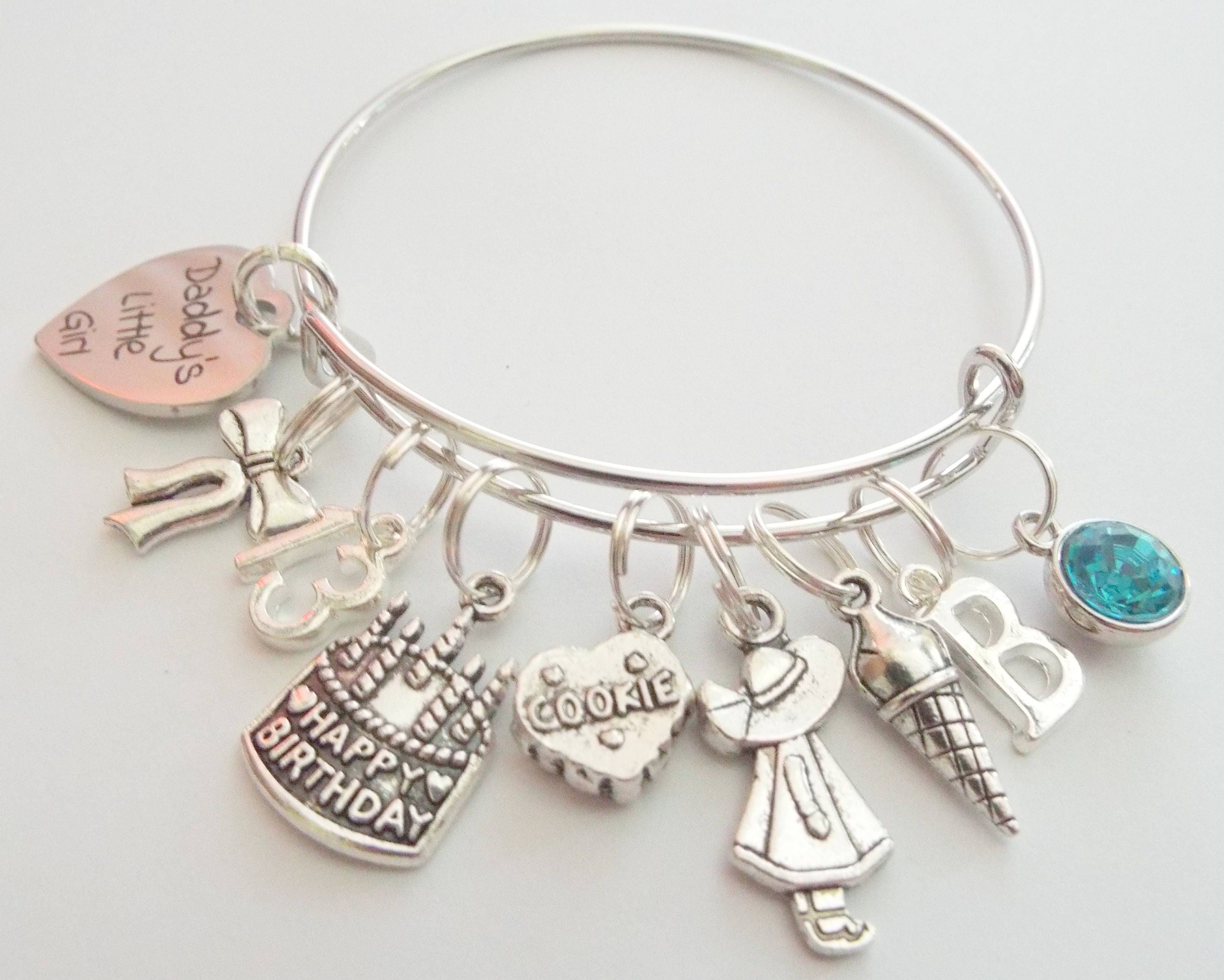 European Father daughter bracelet charms charm dad Daddy/'s Little girl