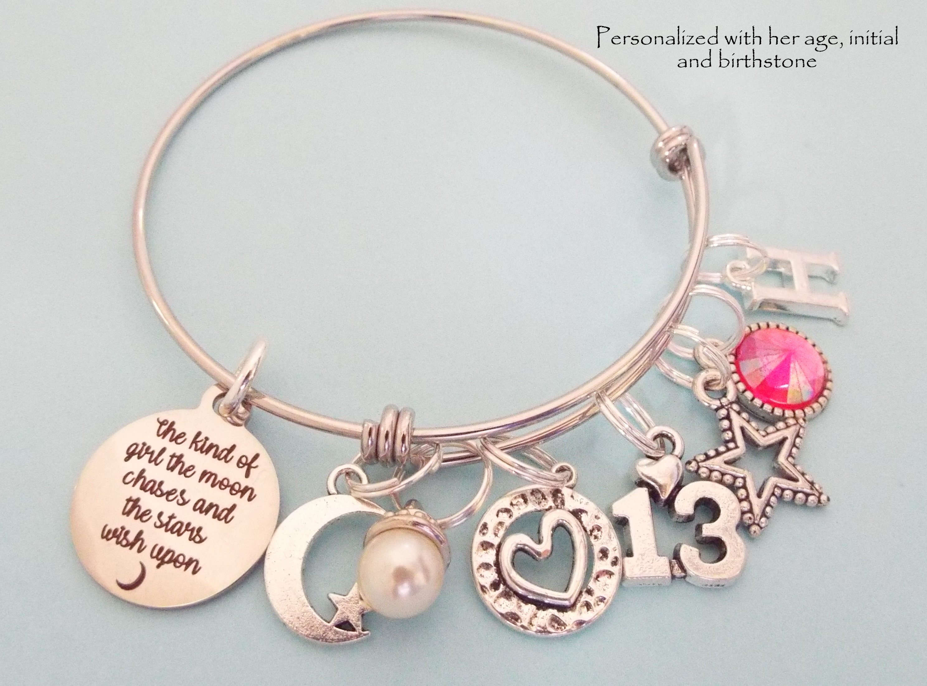 13 Year Old Girl Birthday Gift Daughter 13th Birthstone
