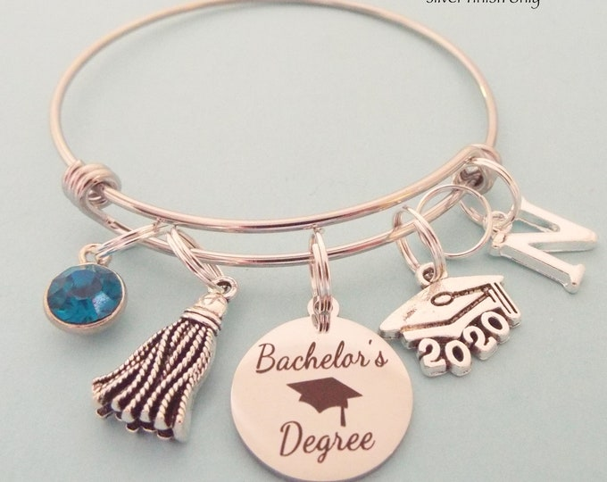 Graduation Gift for a Bachelor's Degree, Gift for Woman Graduating, Girl's Graduation Gift, Personalized Jewelry for Girl Graduate, For Her