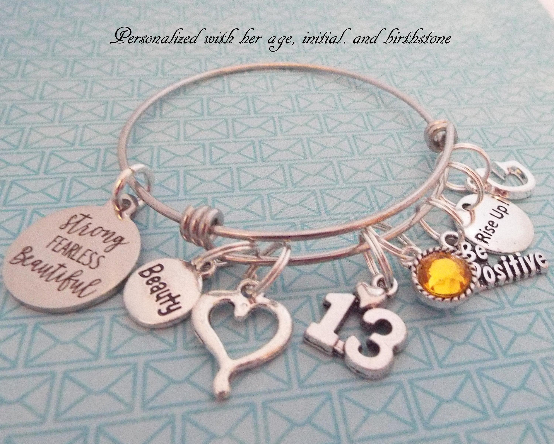 Girls 13th Birthday Girl Feminist Jewelry Encouragement Gift 13 Year Old Custom