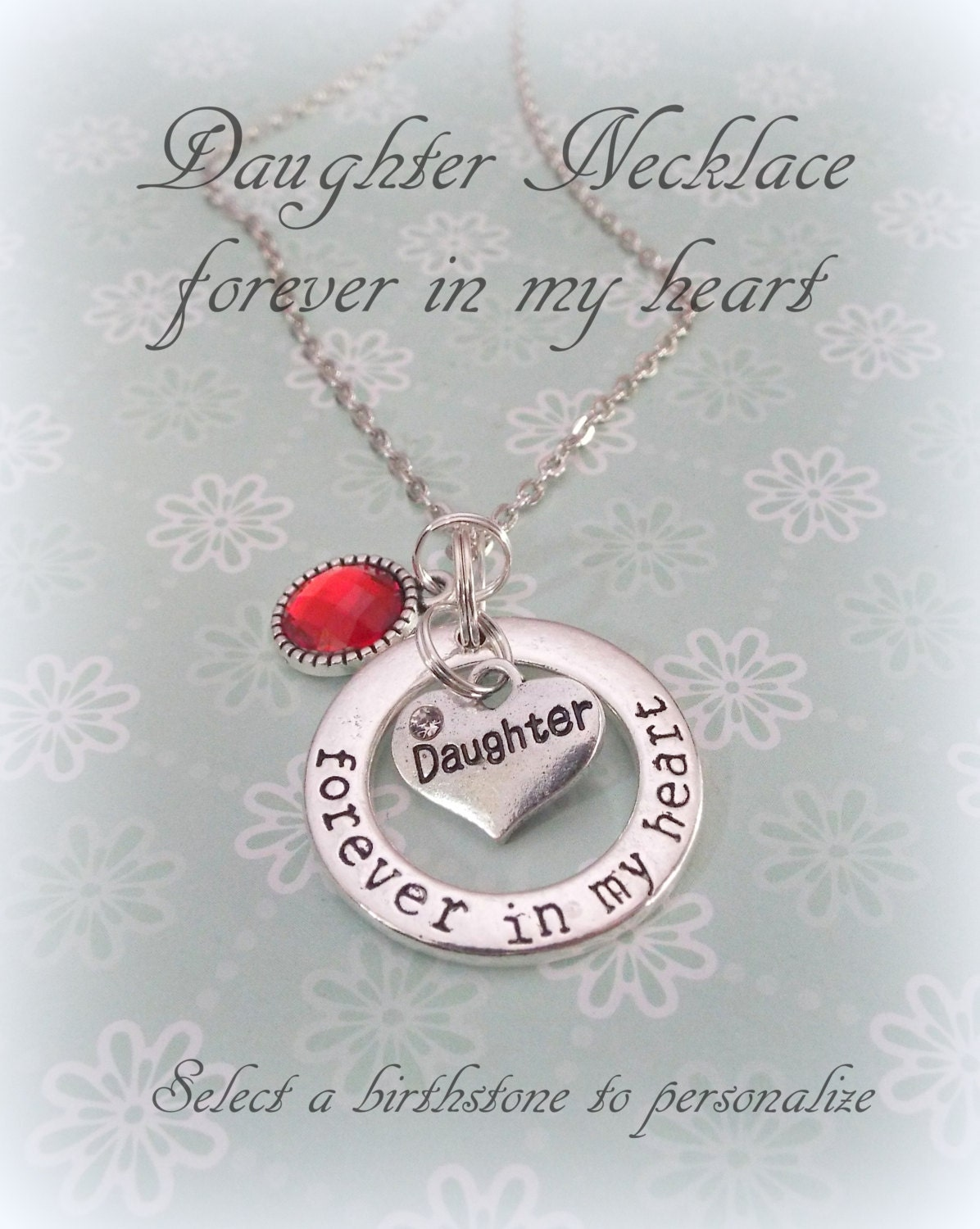 daughter necklace in memory of daughter personalized jewelry