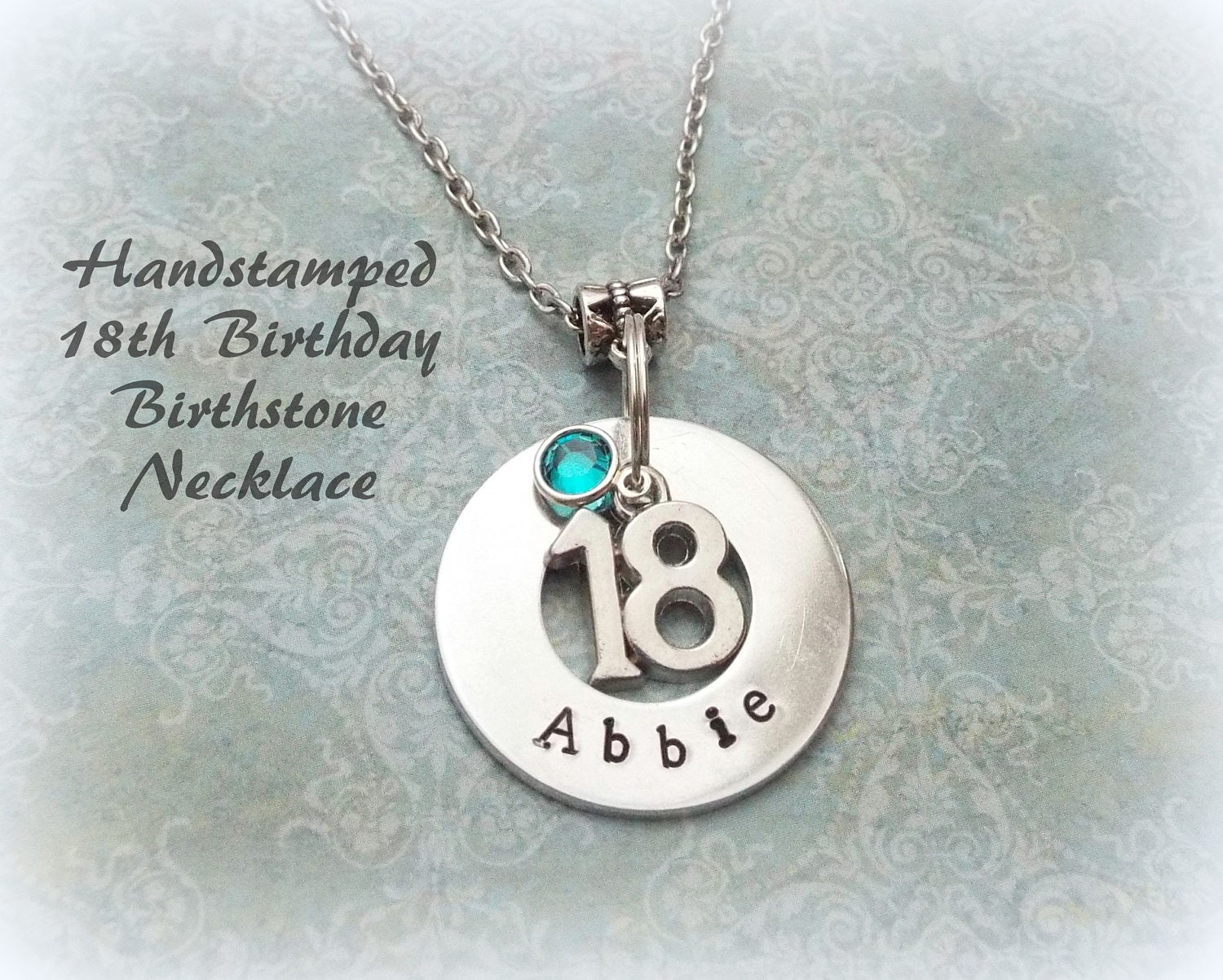 18th Birthday Gift, Personalized Handstamped Girl
