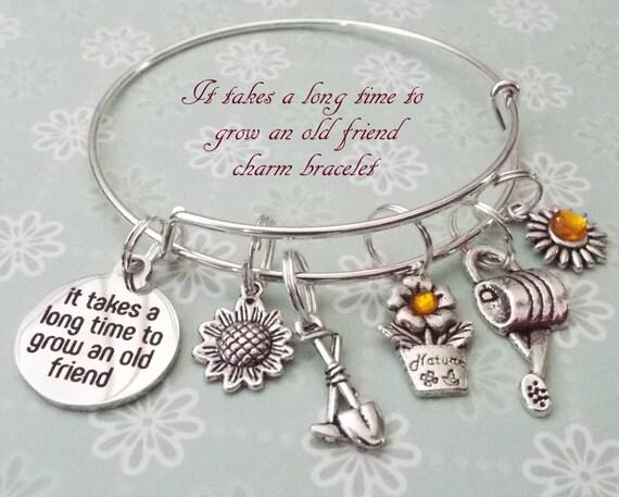 Best Friend Gift Charm Bracelet For Old