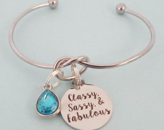 Birthday Gift for Women, 60th Birthday for Her, 70th Birthday for Woman, Personalized Birthday, Birthstone Charm Bracelet, Gift Idea Her