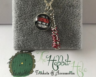 Handmade The Walking Dead Negan & Lucille Inspired Necklace