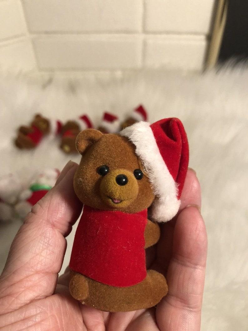 Lot Of 8 New Vintage Teddy Bear Christmas Finger Pen Hugger Grabber Pencil Clip On/'s Stocking Stuffers Gifts Crafs