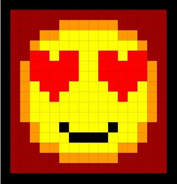 Emojis Pixel Pillow Cover