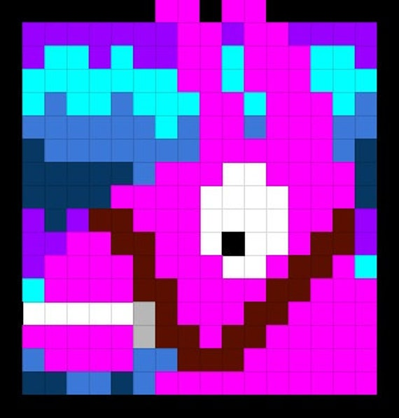 Dessin Fortnite Pixel Art Lama Free V Bucks 2019 Ps4