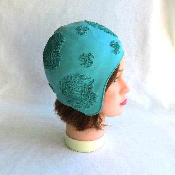Size 52 -  Green  Swim hat  Swimming Beach rubber