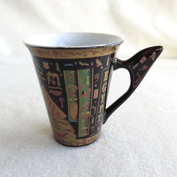 Porcelain Mug From Egypt The Sphinx And Pyramid Vintage Mug From Egypt Egyptian Style Home Decor Egyptian Style Porcalain