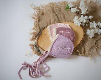 Newborn Hat, Photo Props, Photography Props, Newborn Bonnet, Newborn Props, Girl Hat, Pastel colours