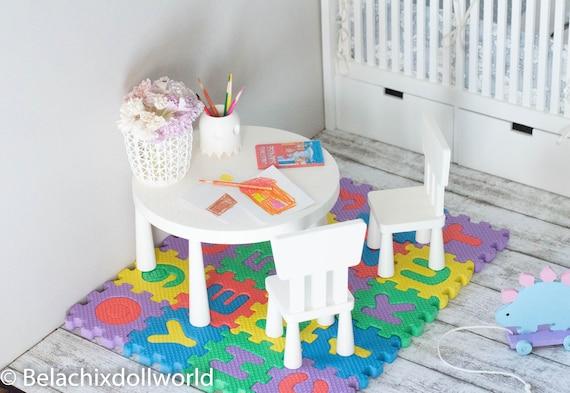 Miniature Mammut Table And Chairs Ikea Mammut Dollhouse Etsy